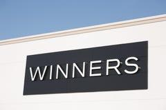 Signe de débouché de gagnants Image stock
