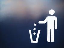 Signe de déchets photo libre de droits