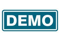Signe de démo, icône, timbre Photos libres de droits