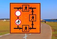 Signe de détour photos libres de droits