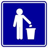 Signe de détritus Photo libre de droits
