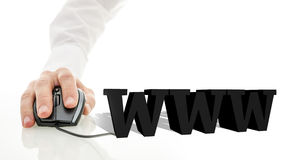 signe de 3D WWW Image libre de droits