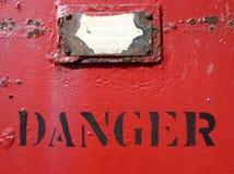 Signe de danger image libre de droits