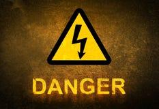 Signe de danger Photographie stock libre de droits