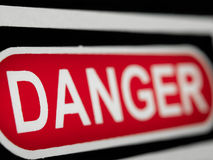 Signe de danger Photo stock