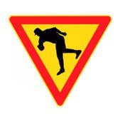 Signe de danger Photo libre de droits