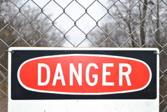 Signe de danger photographie stock