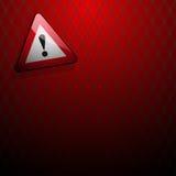 Signe de danger avec tourner Images stock