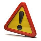 Signe de danger d'exclamation Image stock