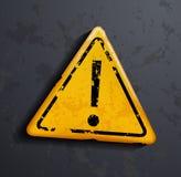 Signe de danger d'exclamation Photographie stock