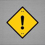 Signe de danger d'exclamation Photographie stock libre de droits