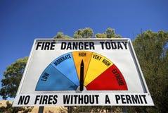 Signe de danger d'incendie images libres de droits