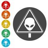 Signe de danger d'UFO illustration de vecteur