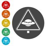 Signe de danger d'UFO illustration stock