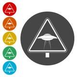 Signe de danger d'UFO illustration libre de droits