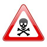 Signe de danger de crâne de triangle illustration de vecteur