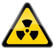 Signe de danger de rayonnement illustration de vecteur