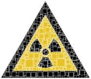 Signe de danger du rayon X Images libres de droits