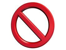 Signe de danger ou d'annulation Images stock