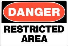 Signe de danger de secteur restreint illustration libre de droits