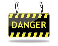 Signe de danger (vecteur) Photo stock