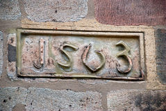 signe de 1563 dates Photographie stock libre de droits