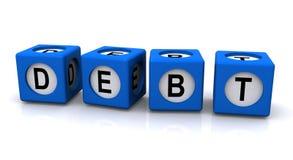 Signe de dette Images libres de droits