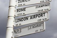 Signe de distance de ville Photos libres de droits