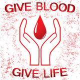 Signe de donation de sang Photos libres de droits
