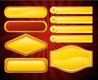 Signe de drapeau de casino Illustration Libre de Droits