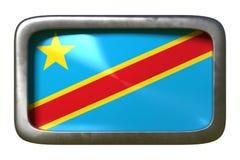 Signe de drapeau du République démocratique du Congo illustration de vecteur