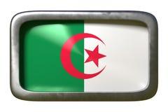 Signe de drapeau de l'Algérie illustration libre de droits