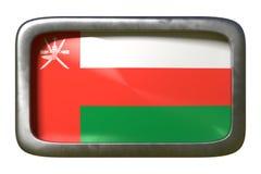 Signe de drapeau de l'Oman illustration stock