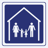 Signe de famille Photo stock