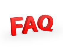 Signe de FAQ Photo stock