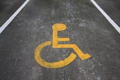 Signe de fauteuil roulant ou lans de fauteuil roulant Photo stock