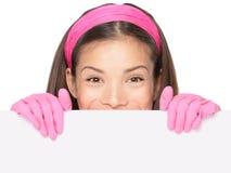Signe de femme de nettoyage Photos libres de droits