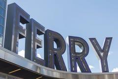 Signe de ferry Photographie stock libre de droits