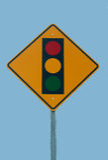 Signe de feu de signalisation Photographie stock