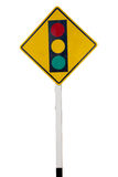 Signe de feu de signalisation Images stock