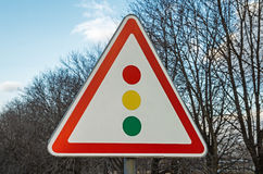Signe de feu de signalisation Photo libre de droits