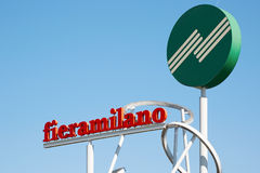Signe de Fiera Milan de Rho Image libre de droits
