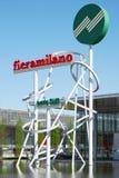 Signe de Fiera Milan de Rho Images libres de droits
