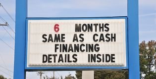 Signe de financement de terme image stock