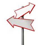 Signe de flèche Images libres de droits