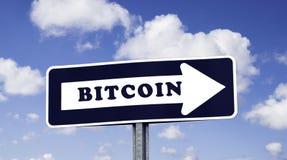 Signe de flèche de BITCOIN photo libre de droits