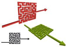 Signe de flèche de labyrinthe, vecteur Photo libre de droits