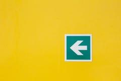 Signe de flèche de sécurité Photos stock