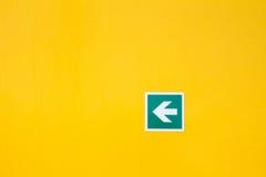 Signe de flèche de sécurité Image libre de droits