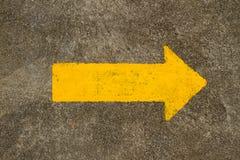 Signe de flèche du trafic Images stock